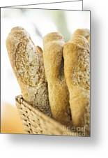 French Baguette In Basket Greeting Card