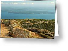 Frenchman's Bay From Cadillac Mountain Greeting Card