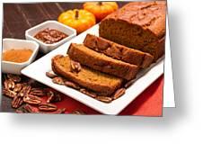 Fresh Pumpkin Bread Greeting Card