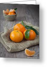 Fresh Tangerine Greeting Card by Sabino Parente