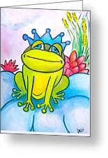 Frog Prince Greeting Card by Debi Starr