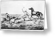 Frontiersman, 1858 Greeting Card