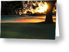 Frost On The West Course Greeting Card