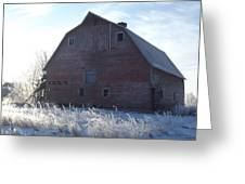 Frosty Barn Greeting Card