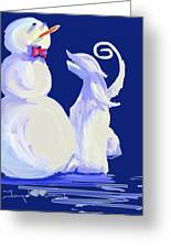 Frosty Blue Greeting Card