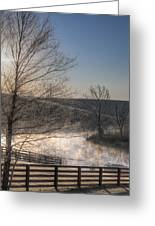 Frosty Sunrise Greeting Card