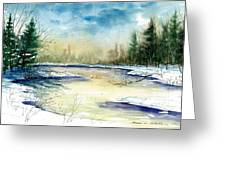 Frozen Creek Greeting Card