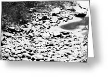 Frozen Riverbed In Winter Greeting Card