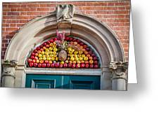Fruit Door Covering Greeting Card