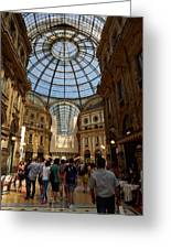Galleria Vittorio Emanuele. Milano Milan Greeting Card