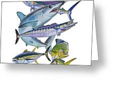Gamefish Collage Greeting Card