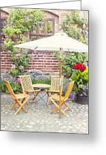 Garden Seating Area Greeting Card