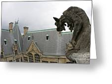 Gargoyles On Roof Of Biltmore Estate Greeting Card