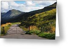 Gates. Rest And Be Thankful. Scotland Greeting Card