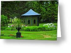 Gazebo In The Garden Greeting Card
