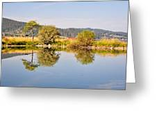 George Town Lake Reflections Greeting Card
