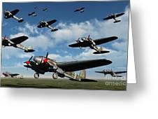 German Heinkel Bombers Taking Greeting Card
