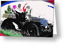 Geronimo At The Wheel 1904 Locomobile Model C Touring Car On The 101 Ranch In Oklahoma 1905 Greeting Card