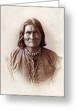 Geronimo Native American Chief Greeting Card
