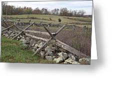 Gettysburg Fence Row 3 Greeting Card
