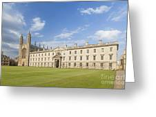 Gibbs Building And Kings College Chapel In Cambridge Greeting Card