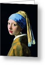 Girl With A Pearl Earring Greeting Card
