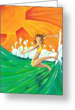 Girls Can Surf Greeting Card