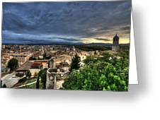 Girona Cityscape Greeting Card