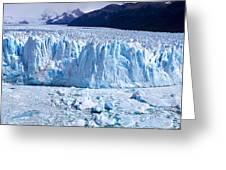 Glacier, Moreno Glacier, Argentine Greeting Card