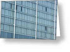Glasses Cladding Facade Of Modern Architecture As Background Greeting Card
