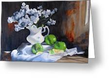 Glenda's Still Life Greeting Card by Denny Dowdy