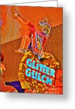 Glitter Gulch  Greeting Card