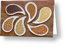 Gluten Free Grain Abstract Greeting Card