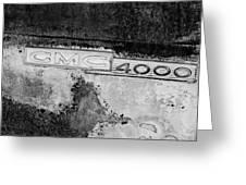 Gmc 4000 V6 Pickup Truck Side Emblem Greeting Card