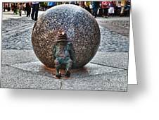 Gnome Statue Wroclaw Poland Greeting Card