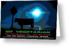 Go Vegetarian Greeting Card