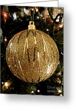 Gold Ornament Greeting Card