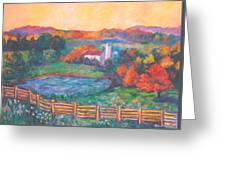 Golden Farm Scene Greeting Card