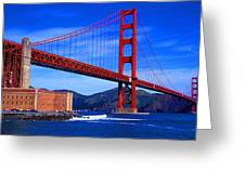 Golden Gate Bridge Panoramic View Greeting Card