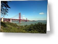 Golden Gate Bridge In San Francisco Greeting Card
