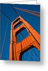 Golden Tower Greeting Card by Darren Patterson