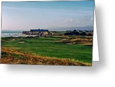 Golf Course On Half Moon Bay Greeting Card