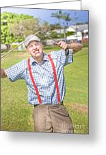Golf Temper Tantrum Greeting Card