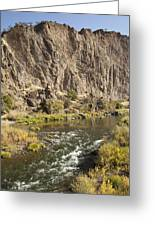 Goose Rock Above John Day River Oregon Greeting Card