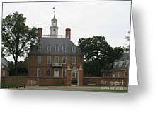 Governers Palace Colonial Williamsburg Greeting Card