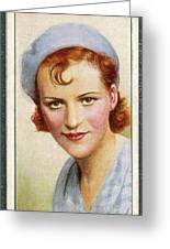 Gracie Fields  English Singer Greeting Card