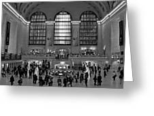 Grand Central Station Bw Greeting Card