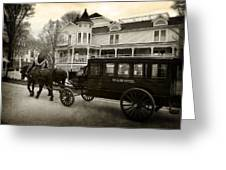 Grand Hotel Taxi Greeting Card by Scott Hovind