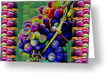 Grapes Fruit Pattern Health Background Designs  And Color Tones N Color Shades Available For Downloa Greeting Card