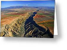Great Canyon River Gor In Spain Greeting Card